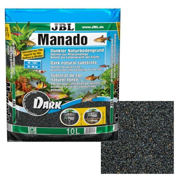 JBL Manado Aquarienbodengrund DARK 10 Liter 14-6703700