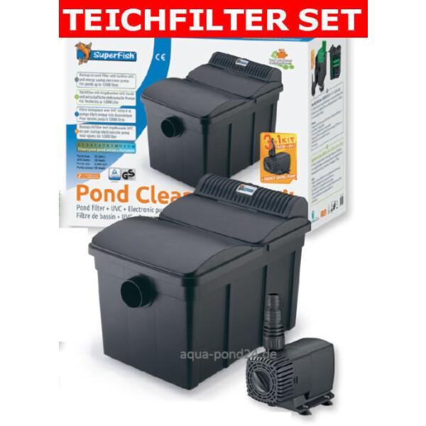 Superfish PondClear Teichfilter Set 12000 mit 13W UVC +Pumpe 2-06020240
