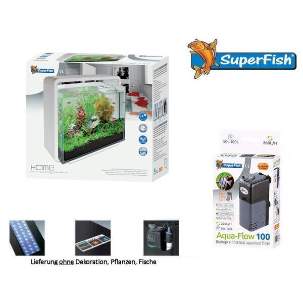 Superfish Aquariumset Home 45 weiss 2-A4051570