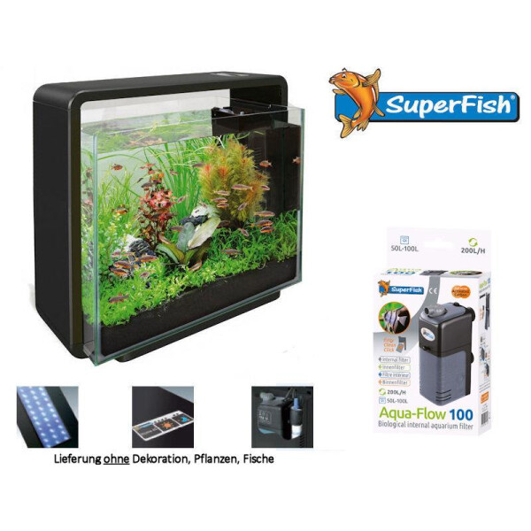 Superfish SF LED Aquariumset Home 40 schwarz 2-A4050655