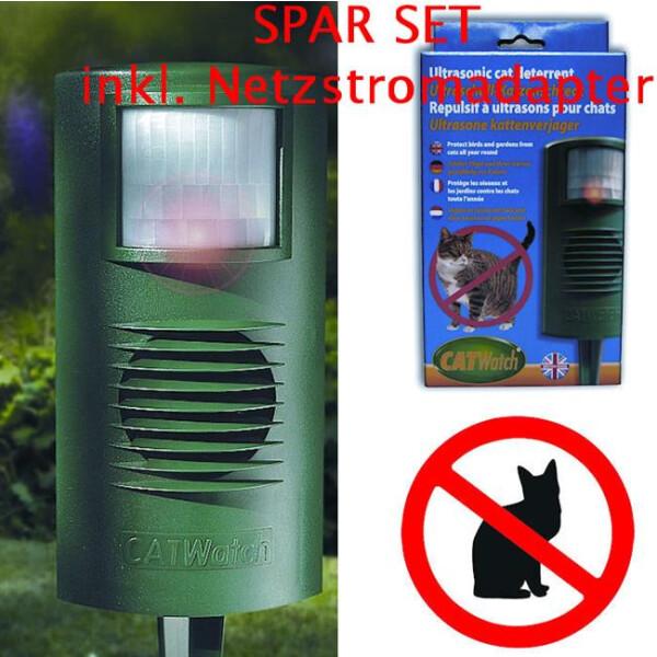 Unique Koi Catwatch Set inkl. Netzstromadapter (Katzenschreck) 38-10045