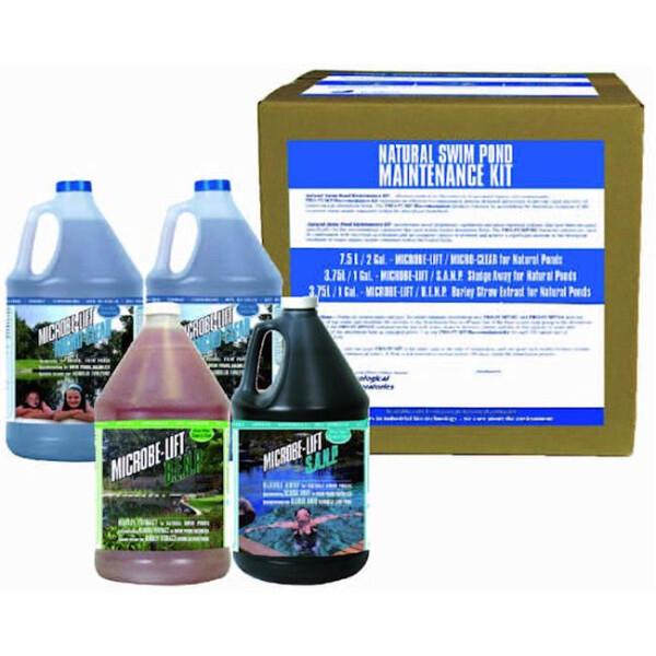 diverse Microbe Lift Wartungsset für Schwimmteiche bis 100000 L 41-SC790